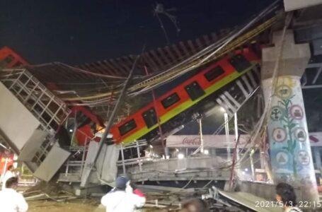 México: al menos 23 muertos por el derrumbe de un puente por el que pasaba un tren de pasajeros